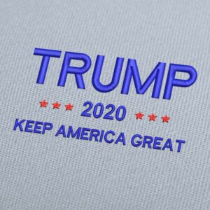 Trump Keep America Great 2020 Blue Embroidery Design Download