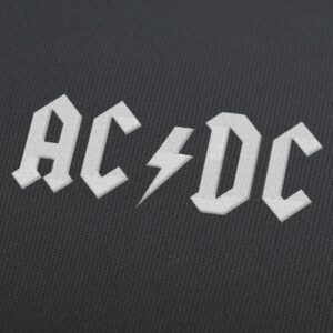 AC/DC Logo Embroidery Design For Instant Download