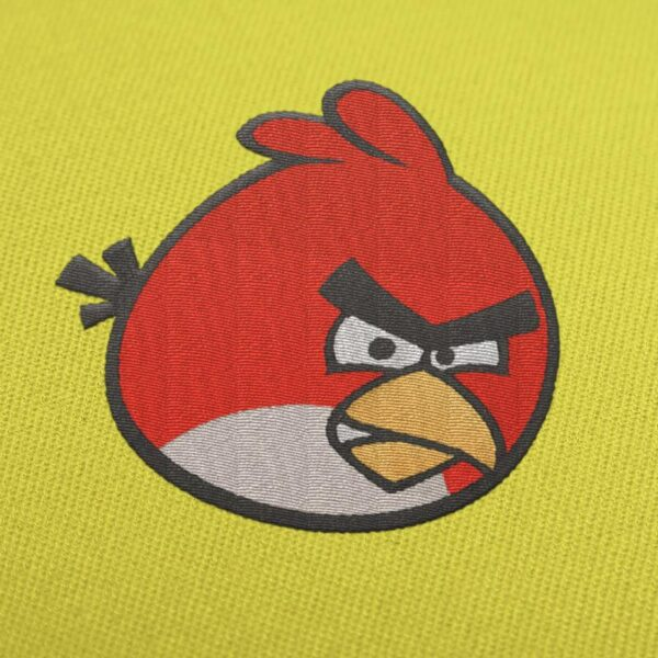 Red bird Angry Birds Embroidery Design For Instant Download