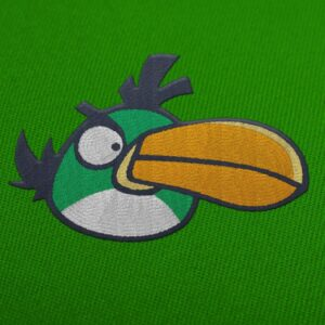 Green bird Angry Birds Embroidery Design For Instant Download