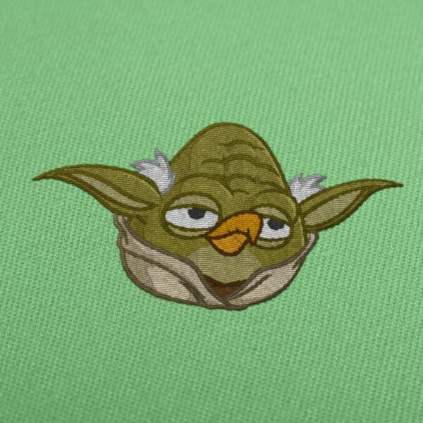 Yoda Star Wars Angry Birds embroidery design