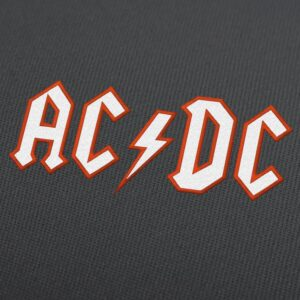 AC/DC Applique Embroidery Design For Instant Download