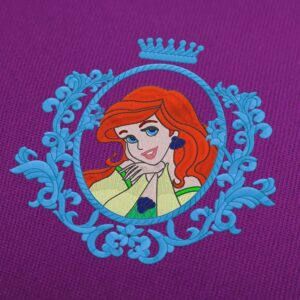 Ariel Disney Princess Embroidery Design For Instant Download