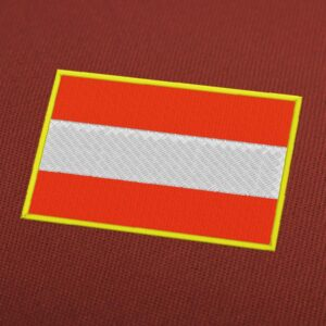 Austria Flag Embroidery Machine Design For Instant Download