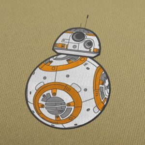BB-8 Star Wars Embroidery Design For Instant Download