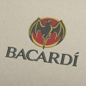 Bacardi 2 Logo Embroidery Design For Instant Download