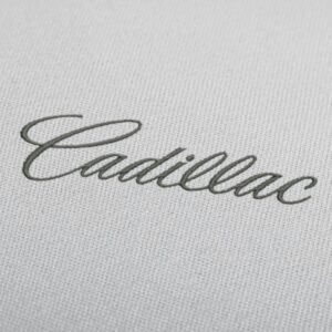 Cadillac Lettering Embroidery Design For Instant Download