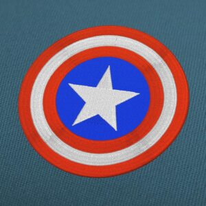 Captain America Shield Embroidery Design For Instant Download
