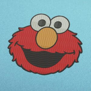 Elmo Face Embroidery Design For Instant Download