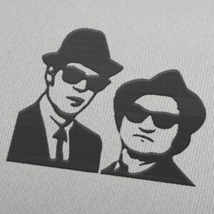 Blues Brothers Embroidery Design for Instant Download