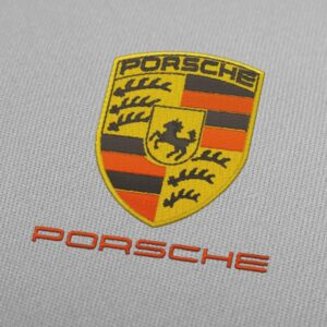 Porsche Logo and Letters Embroidery Design For Instant Download