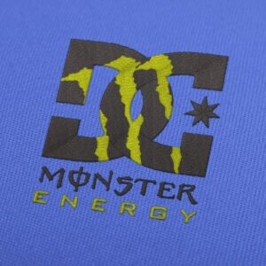 DC Monster Energy Embroidery Design For Instant Download