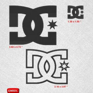 DC Shoes USA Pack - Embroidery design download