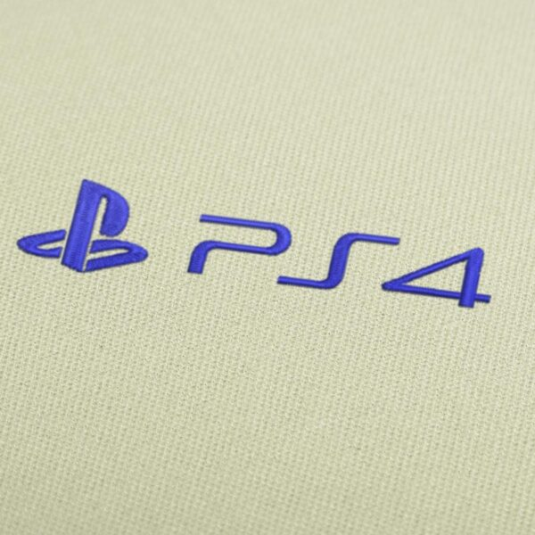Sony PS4 Logo Embroidery Design for Instant Download