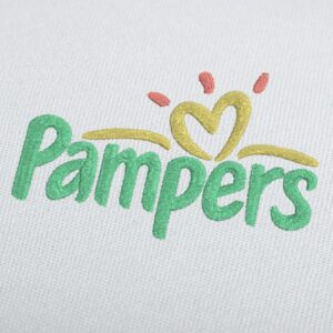 Pampers Logo Embroidery Design For Instant Download