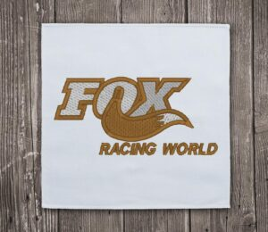 Fox Racing World Embroidery Design for Instant Download