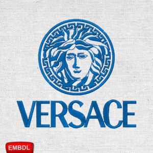 Versace Logo Embroidery Design for Instant Download