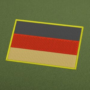Germany Flag Embroidery Machine Design For Instant Download