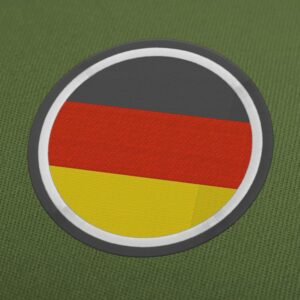 Germany Flag Circle Embroidery Design For Instant Download