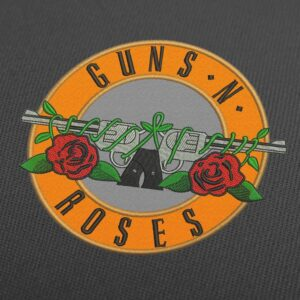 Guns N' Roses Logo Embroidery Design For Instant Download