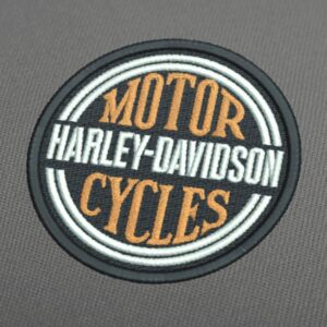 Harley Davidson Circle Embroidery Design For Instant Download
