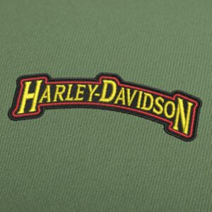 Harley Davidson curved letters embroidery design