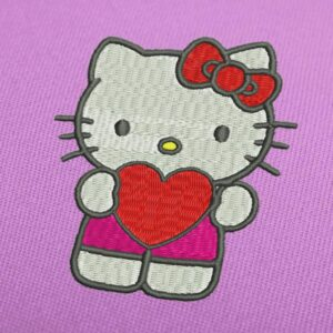 Hello Kitty 1 Embroidery Design For Instant Download
