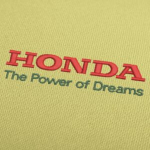 Honda Power of Dreams Embroidery Design For Instant Download