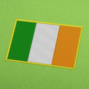 Ireland Flag Embroidery Machine Design For Instant Download