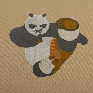 Kung Fu Panda Embroidery Design For Instant Download