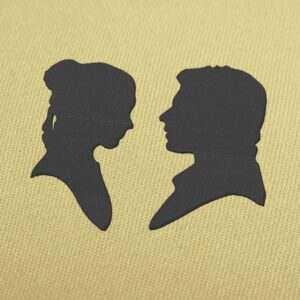 Princess Leia and Han Solo Star Wars Embroidery Design for Download