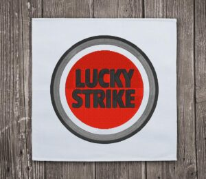 Lucky Strike Logo Embroidery Design For Instant Download