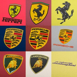 Luxury Car Brands Embroidery Designs Pack -  Digital Download