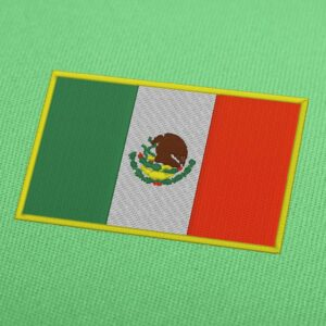 Mexico Flag Embroidery Machine Design For Instant Download