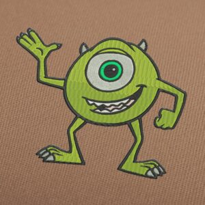 Mike Wazowski Monsters Inc Embroidery Design For Instant Download