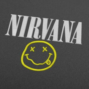 Nirvana Logo Embroidery Design For Instant Download