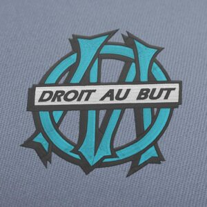 Olympique de Marseille Old Logo French Soccer Embroidery Design