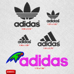Adidas Logo Pack Embroidery Designs for Instant Download