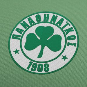 Panathinaikos FC logo greek soccer Embroidery Design For Download