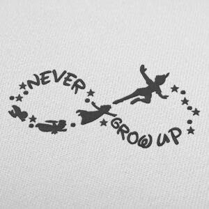 Peter Pan Never Grow Up Disney Embroidery Design For Download