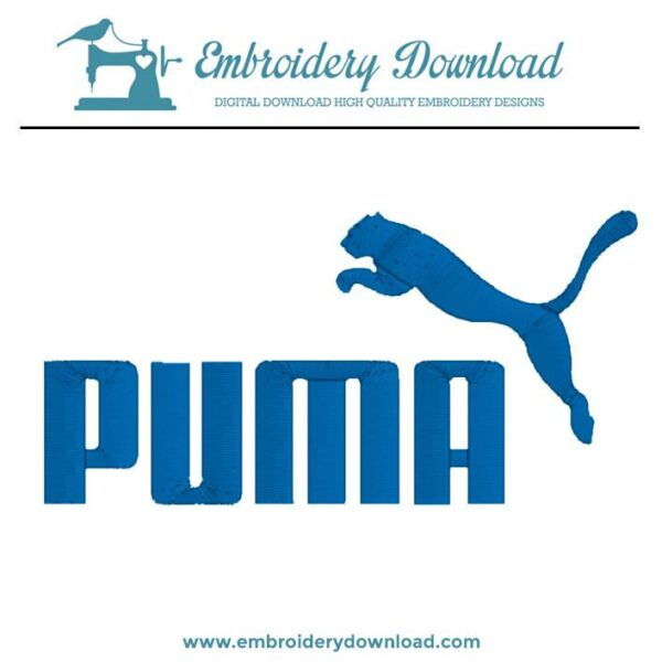 Puma Logo Embroidery Design For Instant Download
