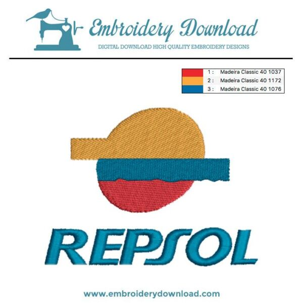 Repsol Embroidery Design For Instant Download