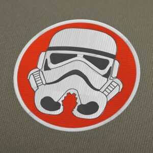 Stormtrooper Head Embroidery Design For Instant Download