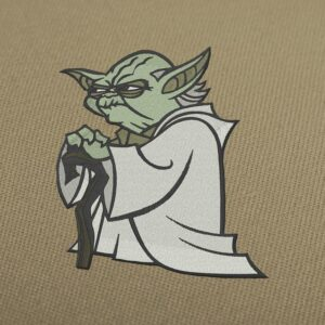 Yoda Star Wars Embroidery Design For Instant Download