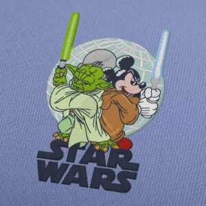 Yoda and Mickey Mouse Star Wars Embroidery Design For Instant Download