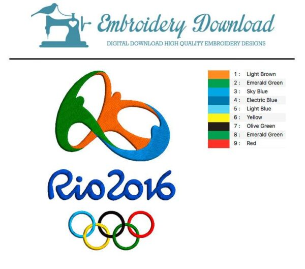 Rio 2016 Olympic Games - Embroidery design download