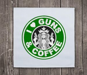 I love Guns & Coffee - Embroidery design download