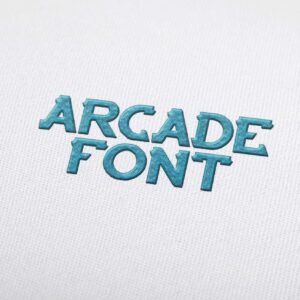 Arcade Font - Machine Embroidery Design Fonts Download