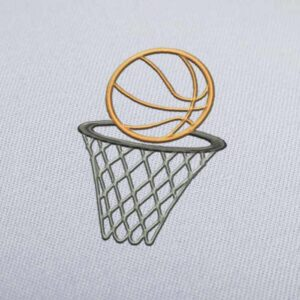 Basketball Hoop Ring 2 Embroidery Designs for Instant Download