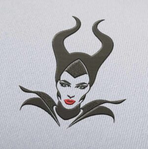 Maleficent Face Embroidery design for Instant Download